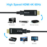 175Ft 4K x 2K 60Hz 18GHz Fiber Optic/Hybrid HDMI Cable with Micro HDMI Adapter, LSZH Jack