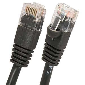 125Ft Cat5E UTP Ethernet Network Booted Cable Black