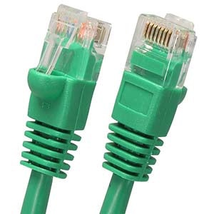 0.5Ft Cat5E UTP Ethernet Network Booted Cable Green