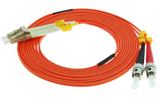 2m ST-LC Duplex Multimode 62.5/125 Fiber Optic Cable