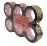 "iMBAPrice 3-inches Shipping Packaging Tape - 1 Box of Light Series (24 Roll of 110 Yards) 24 x 330 Feet Long 3"" Wide Heavy Duty Brown Moving Packing Tape"