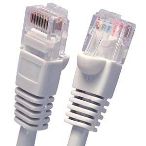 0.5Ft Cat5E UTP Ethernet Network Booted Cable Gray