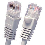 4Ft Cat5E UTP Ethernet Network Booted Cable Gray