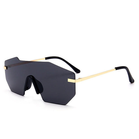 New Brand Designer Unique Rimless Mirrored Sunglasses