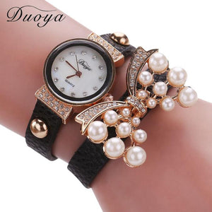 Duoya selling luxury fashion heart pendant women watches