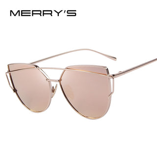 Women Cat Eye Twin-Beams Sunglasses