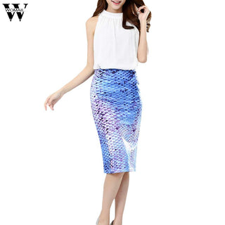 WOMAIL  Fashion Flower print women's Midi Pencil Skirt for Office Wear female faldas girls bottoms M-XL skirt  D6W30