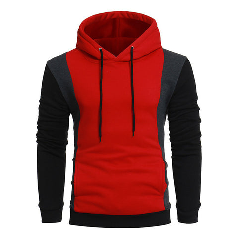 Men Red Black Hoodies & Sweatshirts With Hat