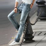 2018 Autumn New Style Men Vintage Pencil Jeans Casual Slim Male Pants Solid Men's Harem Jeans Legging Denim Pants Gray Trousers