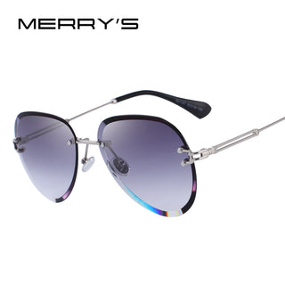 Women Rimless Pilot Sunglasses