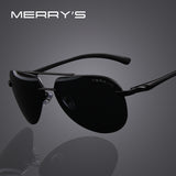 MERRY'S Brand Men 100% Polarized Aluminum Alloy Frame Sunglasses Fashion Men's Driving Sunglasses S'8281