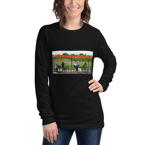 "Unisex Long Sleeve Tee. ""Second Amendment Theme Park""."