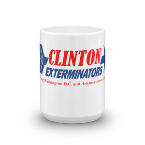 "Mug. . ""Clinton Exterminators""."