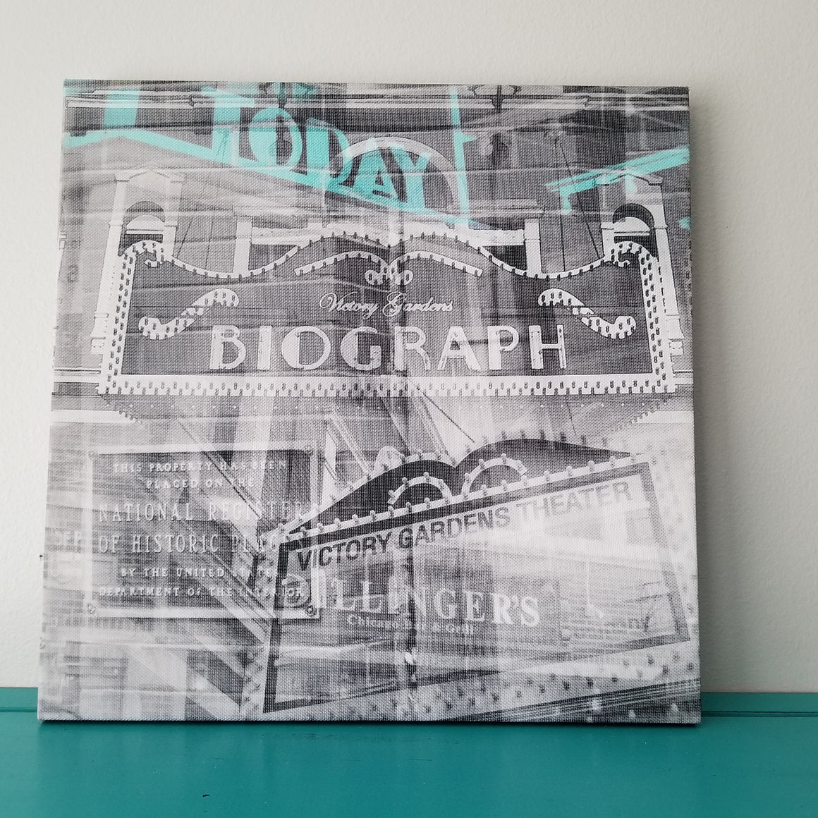 "Biograph Theater - Chicago 13"" Canvas Wall Art - Photo Collage"