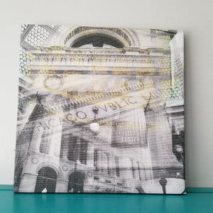 "Cultural Center - Chicago 13"" Canvas Wall Art - Photo Collage"