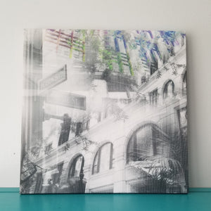 "DePaul Loop Campus - Chicago 13"" Canvas Wall Art -  Photo Collage"