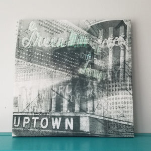 "Green Mill Uptown - Chicago 13"" Canvas Wall Art - Photo Collage"