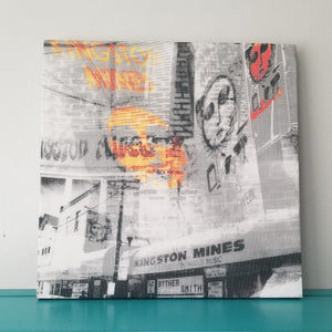 "Kingston Mines - Chicago 13"" Canvas Wall Art - Photo Collage"