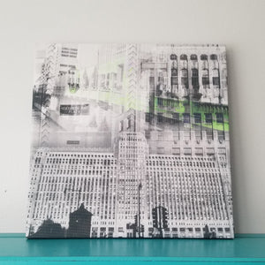 "Merchandise Mart - Chicago 13"" Canvas Wall Art - Photo Collage"