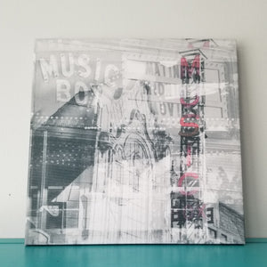 "Music Box Theater - Chicago 13"" Canvas Wall Art - Photo Collage"