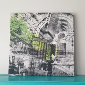 "Newberry Library - Chicago 13"" Canvas Wall Art - Photo Collage"