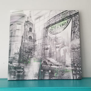 "Old Town Neighborhood - Chicago 13"" Canvas Wall Art - Photo Collage"