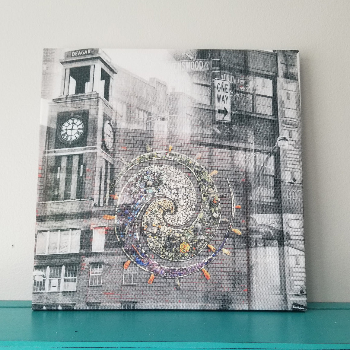 "Ravenswood Neighborhood - Chicago 13"" Canvas Wall Art - Photo Collage"