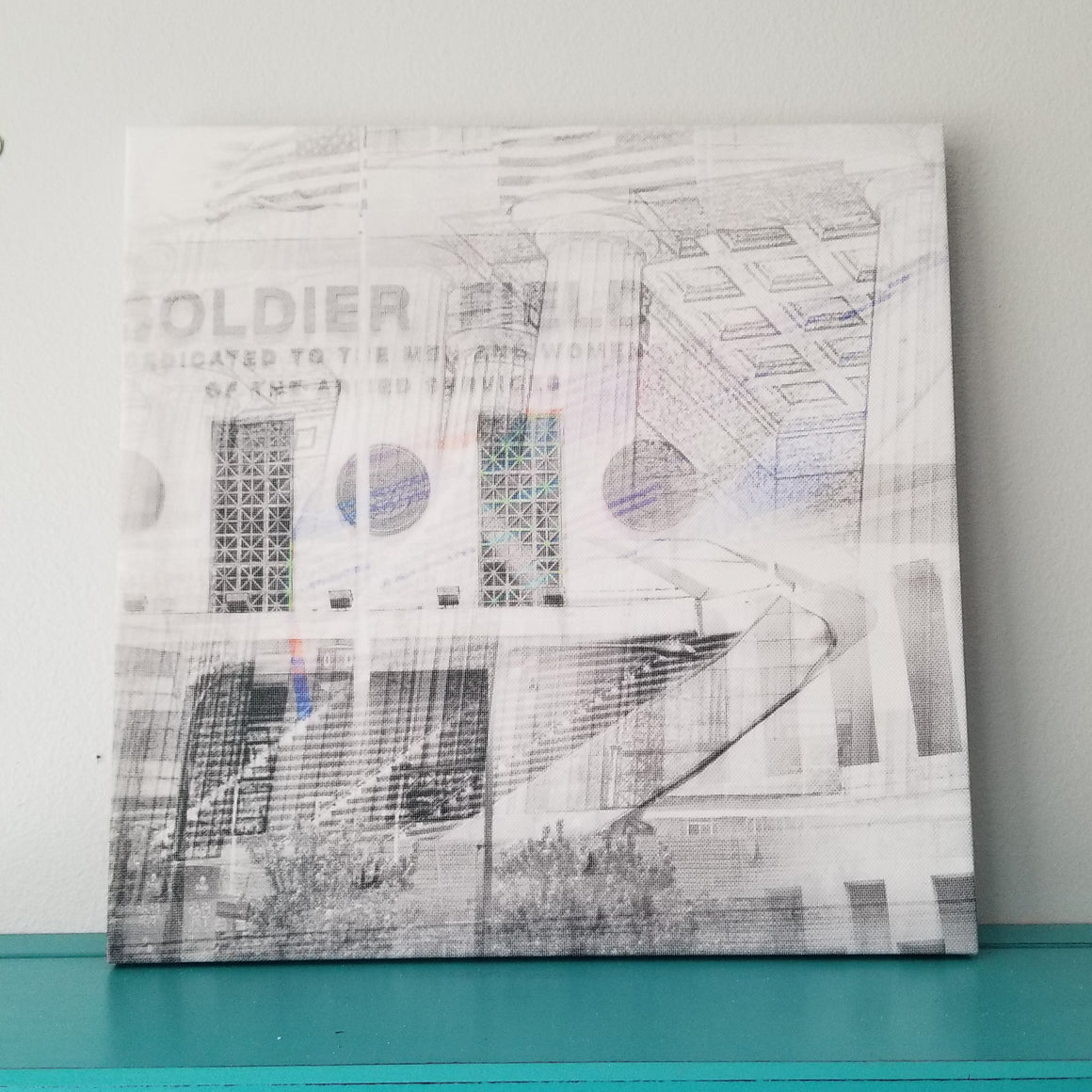 "Soldier Field - Chicago 13"" Canvas Wall Art - Photo Collage"