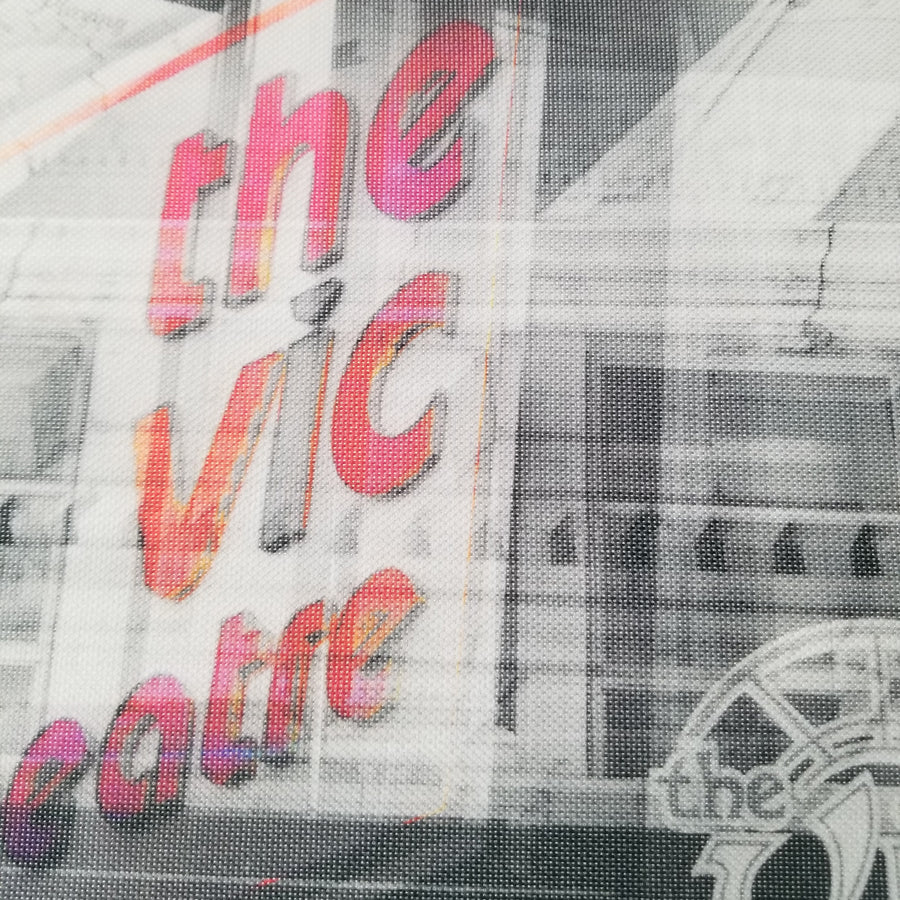"Vic Theater - Chicago 13"" Canvas Wall Art - Photo Collage"