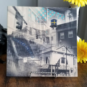 "Andersonville Neighborhood - Chicago 13"" Canvas Wall Art - Photo Collage"