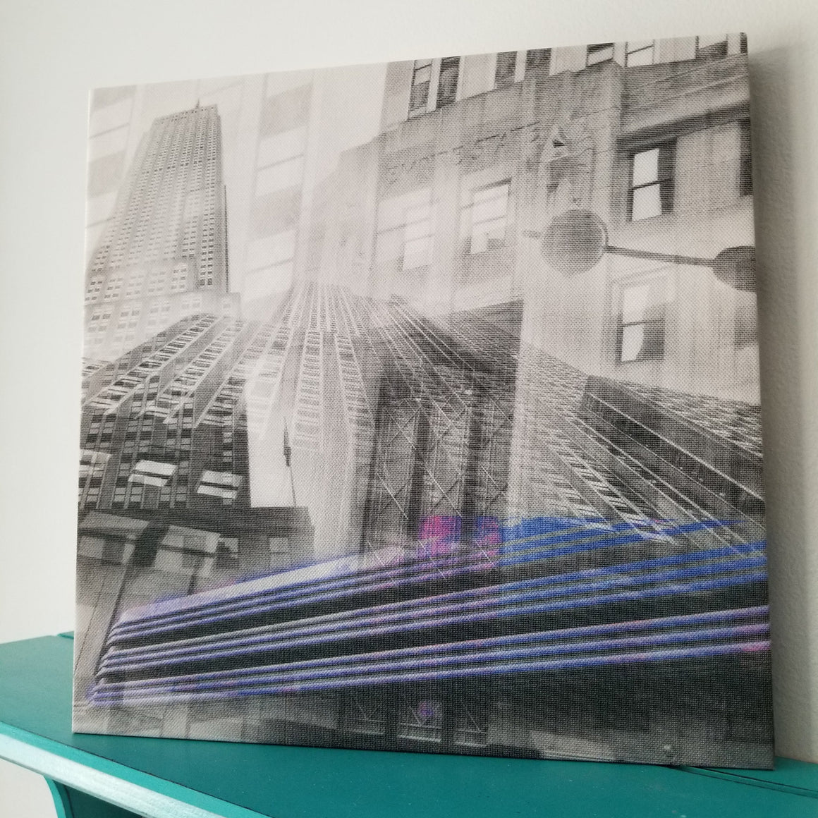 "New York 13"" Canvas - Empire State Building - Photo Collage Wall Art"
