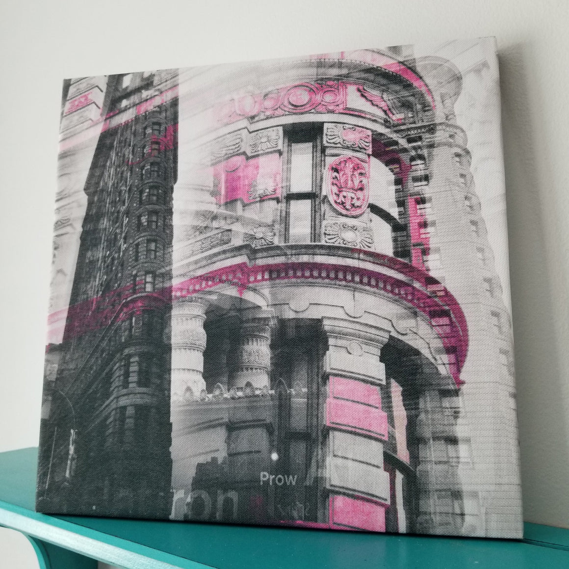 "New York 13"" Canvas - Flatiron Building - Photo Collage Wall Art"