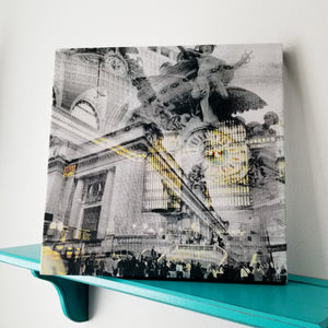 "New York 13"" Canvas - Grand Central Station - Photo Collage Wall Art"