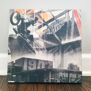 "Harley Davidson - Milwaukee 13"" Canvas Wall Art - Photo Collage"