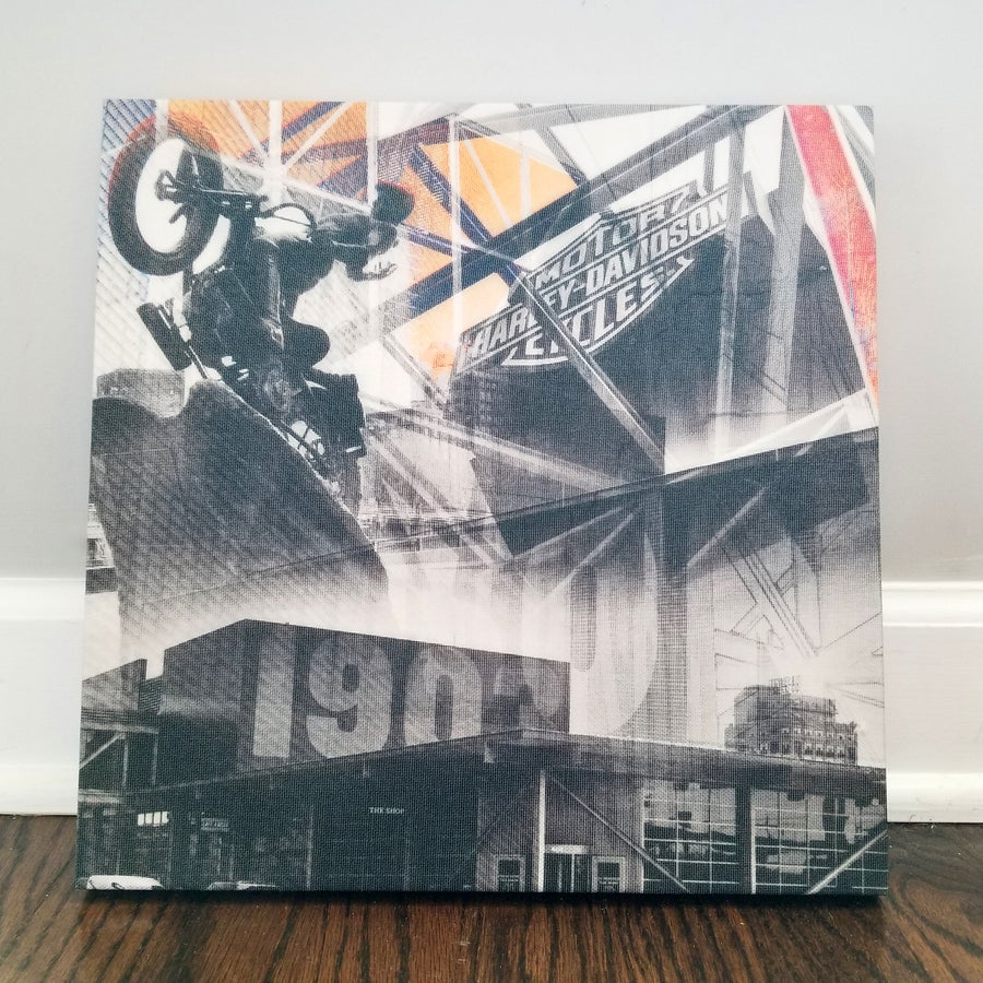 "Milwaukee 13"" Canvas - Harley Davidson - Photo Collage Wall Art"