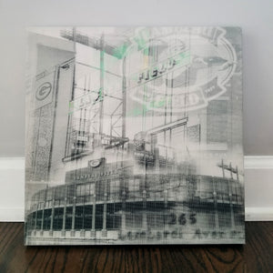 "Milwaukee 13"" Canvas - Lambeau Field Green Bay - Photo Collage Wall Art"