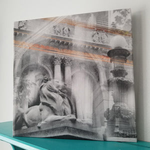 "New York 13"" Canvas - New York Public Library - Photo Collage Wall Art"