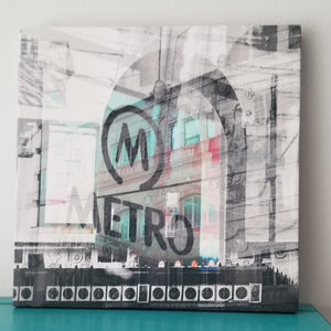 "Metro Theater - Chicago 13"" Canvas Wall Art - Photo Collage"