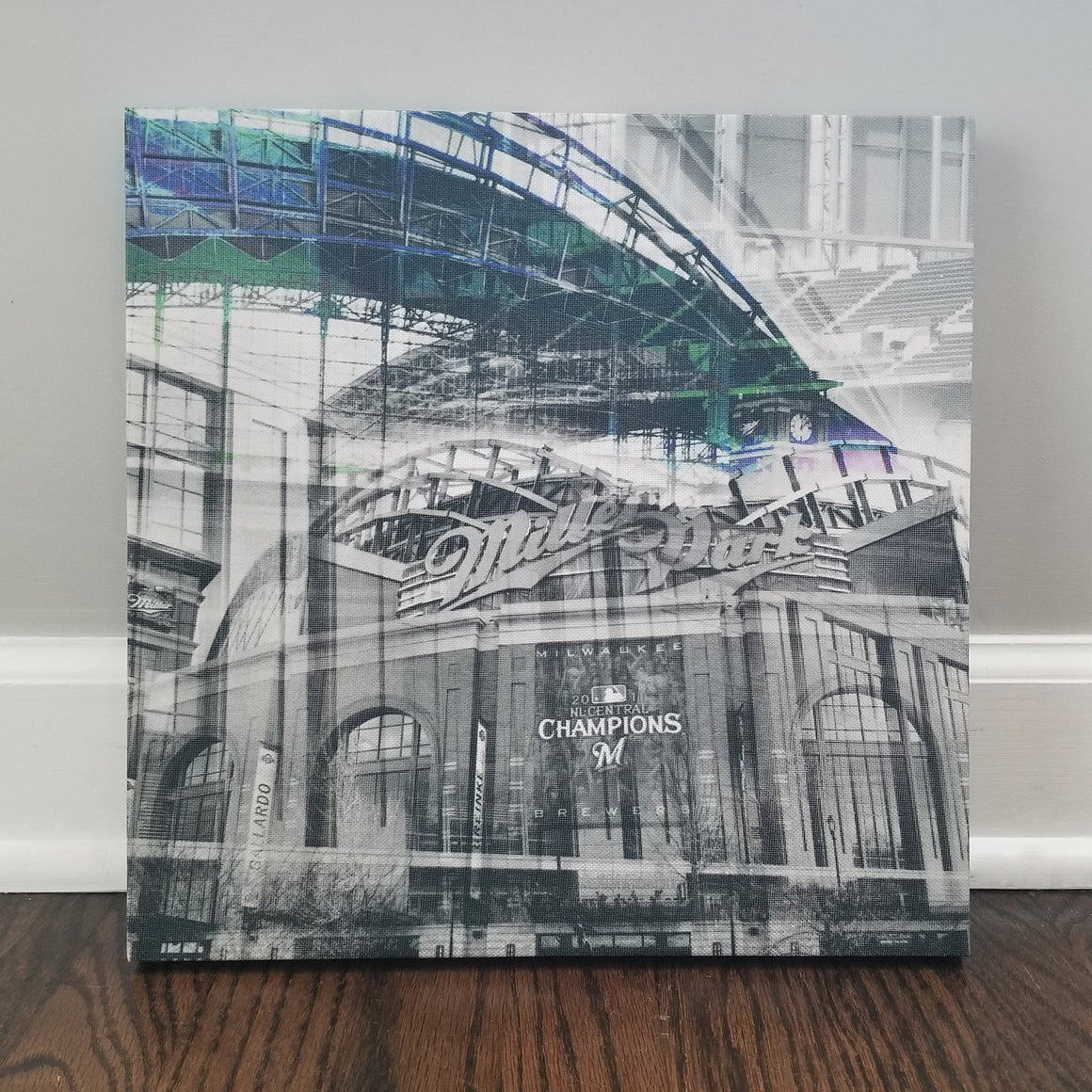 "Milwaukee 13"" Canvas - Miller Park - Photo Collage Wall Art"