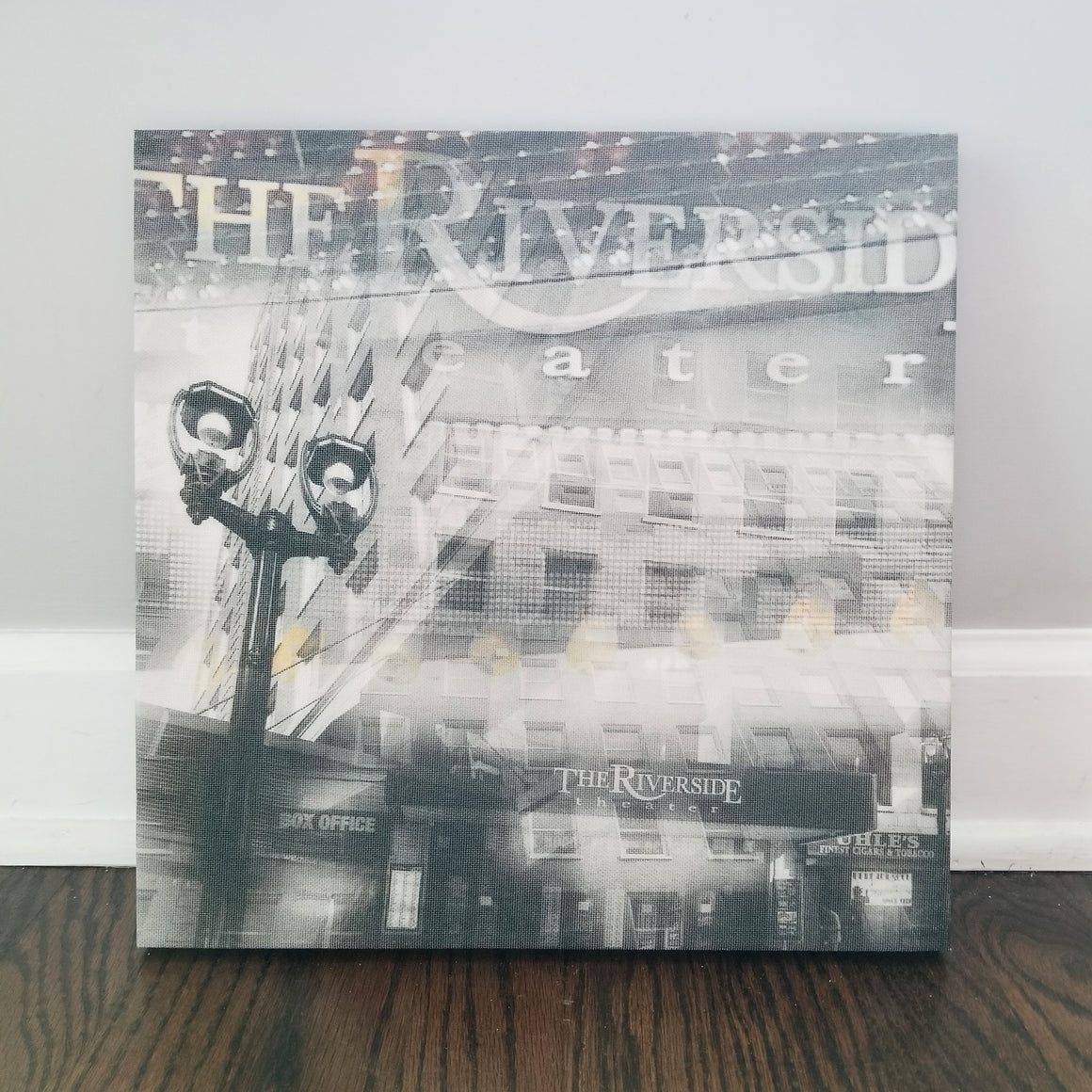 "Riverside Theater - Milwaukee 13"" Canvas Wall Art - Photo Collage"