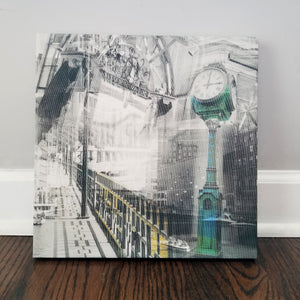 "Milwaukee 13"" Canvas - Milwaukee Riverwalk - Photo Collage Wall Art"