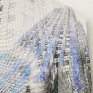 "New York 13"" Canvas - Rockefeller Center - Photo Collage Wall Art"