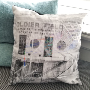 "Soldier Field - 14"" Canvas Throw Pillow"