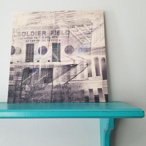 "Soldier Field - Chicago 12"" Wood Panel"