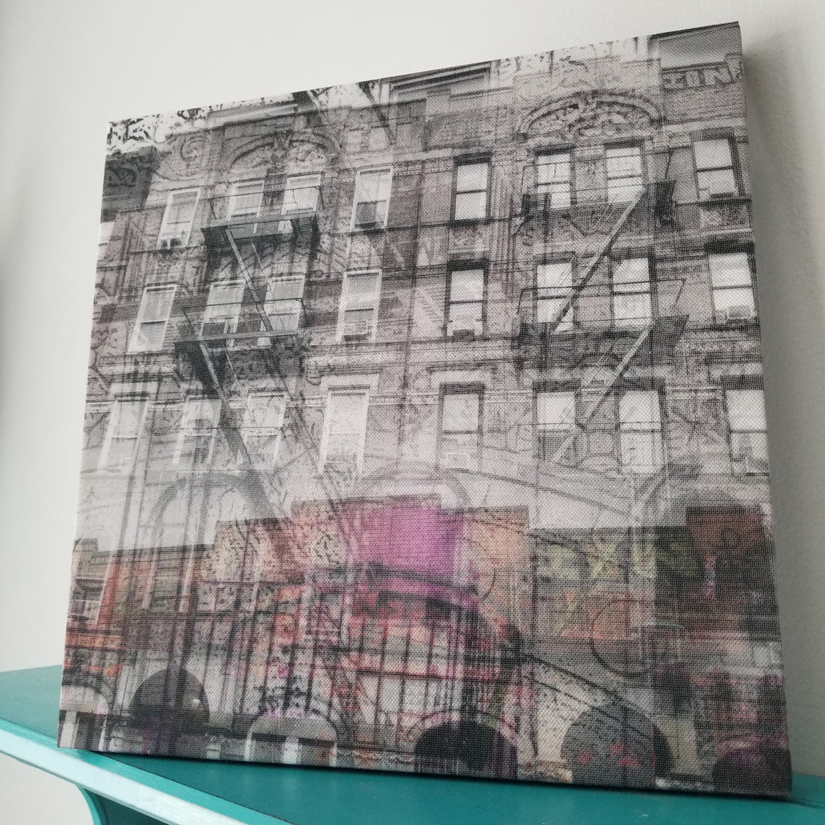 "New York 13"" Canvas - St Marks Place - Photo Collage Wall Art"