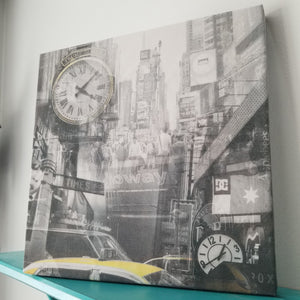 "Times Square - New York 13"" Canvas Wall Art - Photo Collage"