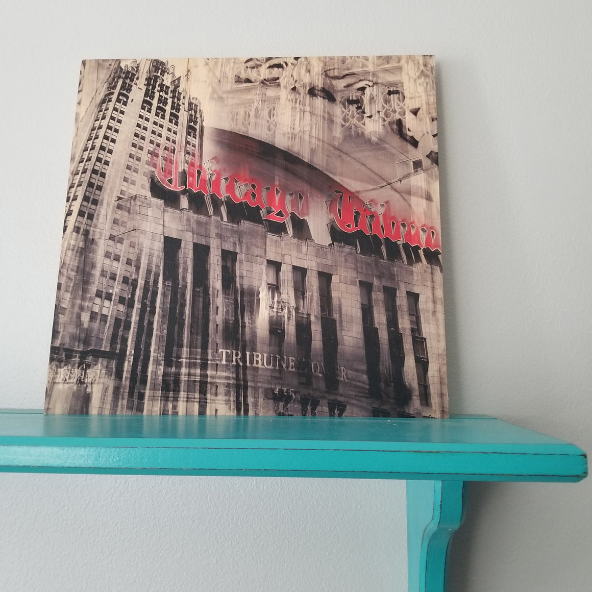 "Tribune Tower - Chicago 12"" Wood Panel"