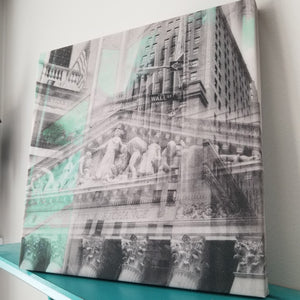 "Wall Street - New York 13"" Canvas Wall Art - Photo Collage"
