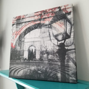 "Washington Square - New York 13"" Canvas Wall Art - Photo Collage"