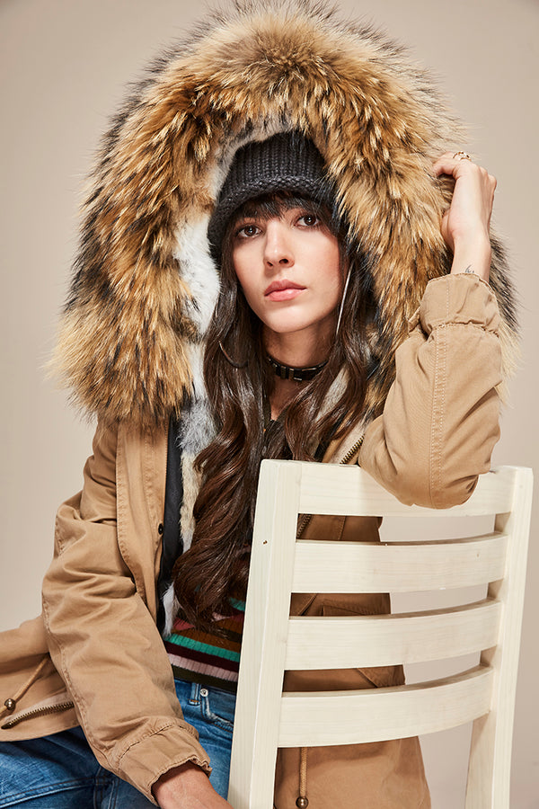 NATURAL FUR LINED PARKA